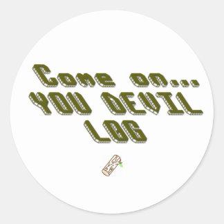 Devil Log Classic Round Sticker