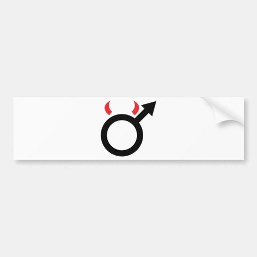 devil man icon bumper sticker