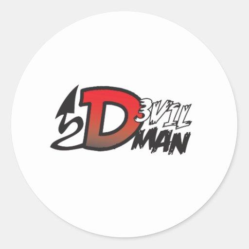 Devil Man Logo Classic Round Sticker