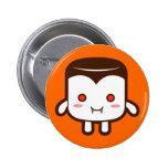 Devil Marshmallow 2 Inch Round Button