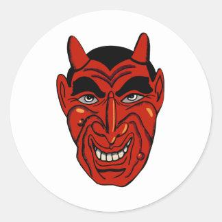 Devil Mask Classic Round Sticker