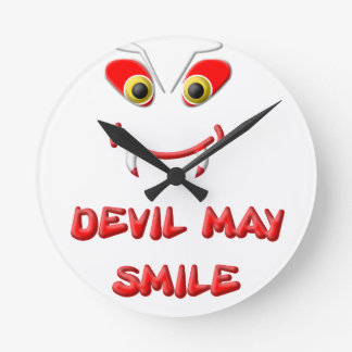 DEVIL MAY SMILE 2.png Round Clock