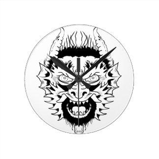 Devil nymph round clock