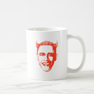 Devil Obama 2 Faded.png Coffee Mugs