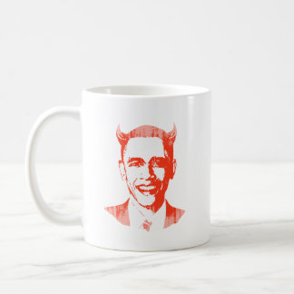 Devil Obama Faded.png Coffee Mugs
