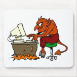 Devil On The Internet Mouse Pads