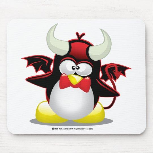 Devil Penguin Mouse Pad