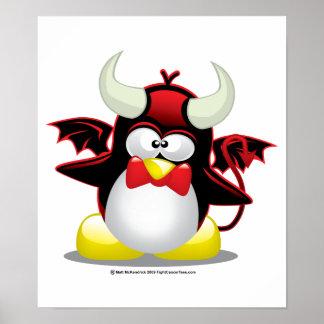 Devil Penguin Poster