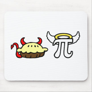 Devil Pie and Angel Pi Mousemat