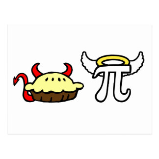 Devil Pie and Angel Pi Post Cards