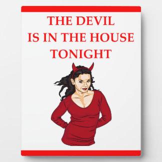 devil photo plaques
