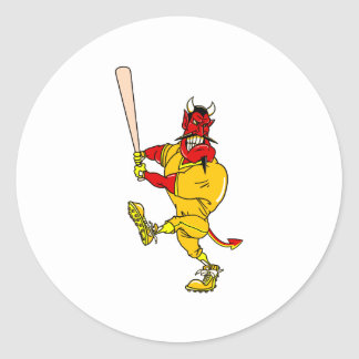 Devil Player Round Stickers