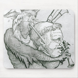 Devil Playing Man's Head as a Saxophone, 1144 Mouse Pad