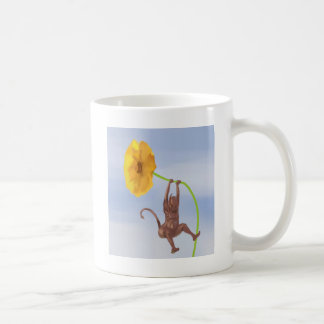 Devil Playing With a Flower Coffee Mug