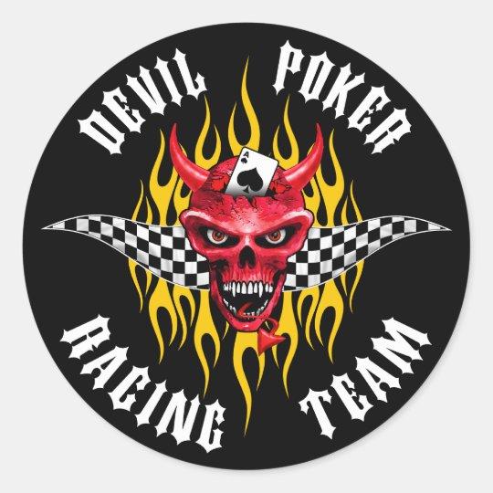 Devil Poker Racing Team Sticker