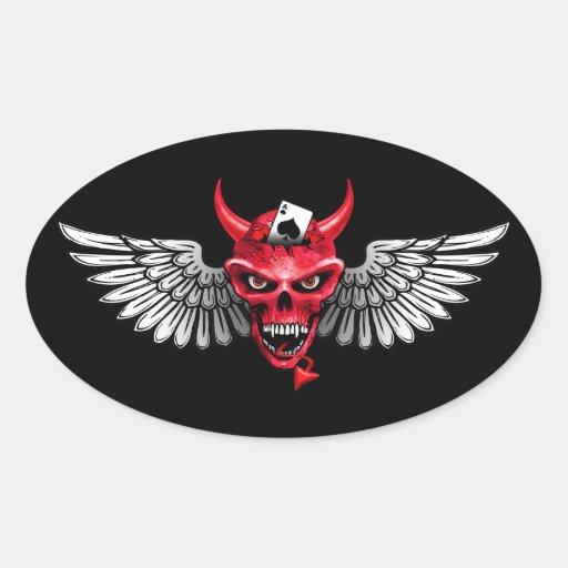 Devil Poker Sticker