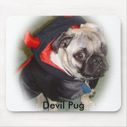 Devil Pug Mousepad