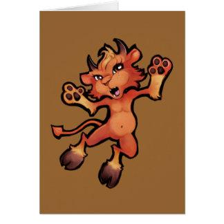 Devil Pup Pounce! Card