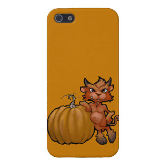 Devil Pup with Pumpkin iPhone SE/5/5s Cover
