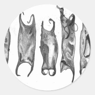 devil purses by stanthos classic round sticker
