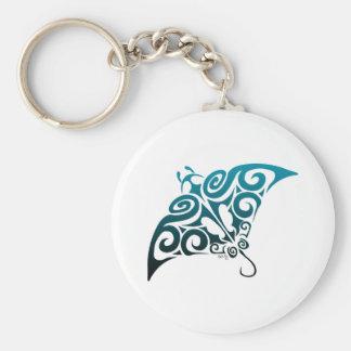Devil Ray Basic Round Button Keychain
