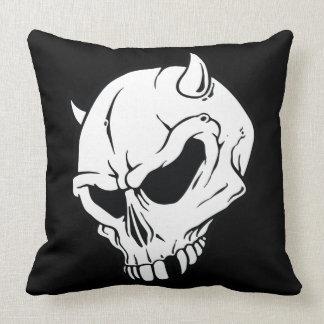 devil skull pillow