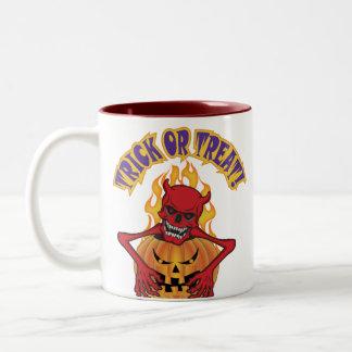 Devil Skull Two-Tone Coffee Mug