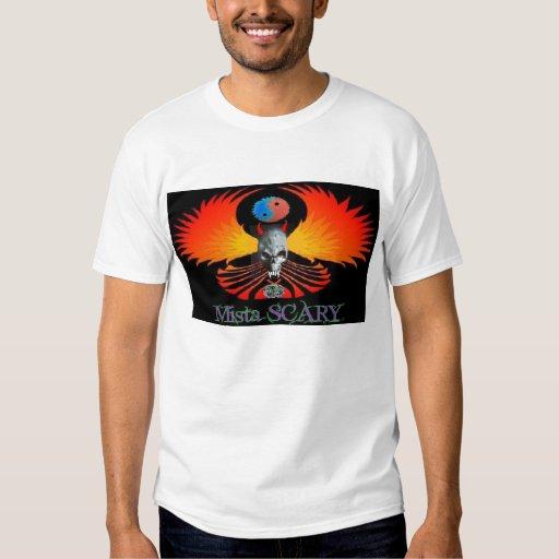 Devil Skull Winged Phoenix Mista SCARY Tee Custom