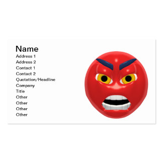 Devil Smiley Business Card Template