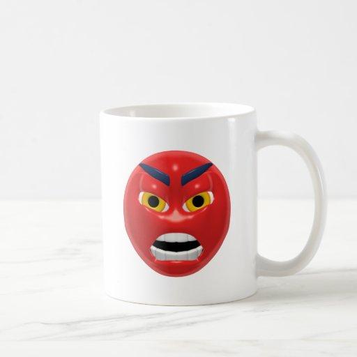 Devil Smiley Classic White Coffee Mug