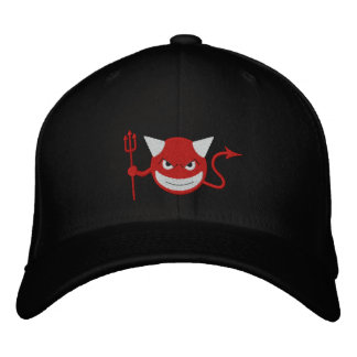 Devil Smiley Embroidered Baseball Cap
