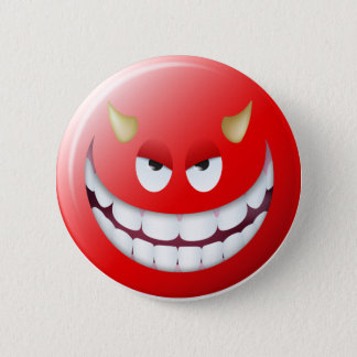 Devil Smiley Face 2 Pinback Button