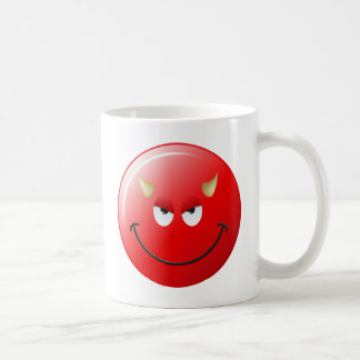 Devil Smiley Face Coffee Mug