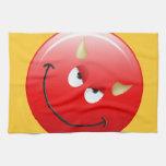 Devil Smiley Face Hand Towels