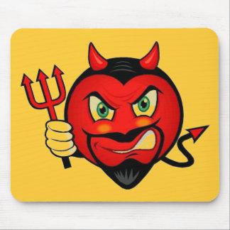 Devil Smiley Mouse Pad