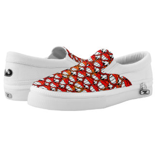Devil Smilies seamless pattern + your ideas Slip-On Sneakers