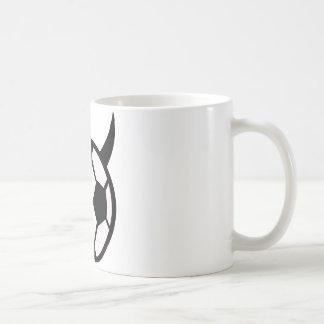 devil soccer ball bad bad bad classic white coffee mug