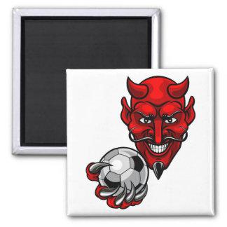 Devil Soccer Football Mascot Magnet