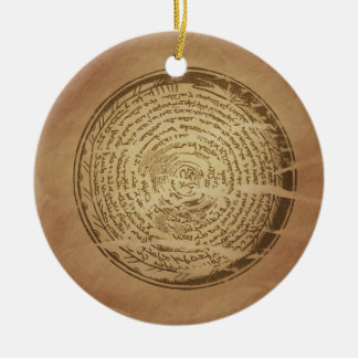 Devil Trap Assyrian Magic Charms Ceramic Ornament