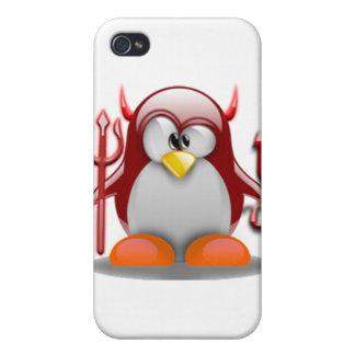 Devil Tux (Linux Tux) iPhone 4 Cover