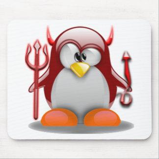 Devil Tux (Linux Tux) Mouse Pad