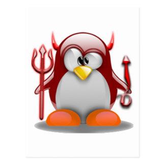 Devil Tux Linux Tux Postcards