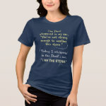 Devil whispered in my ear Christian Women T-shirts