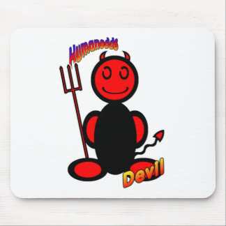 Devil (with logos) mouse pad