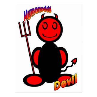 Devil (with logos) postcard