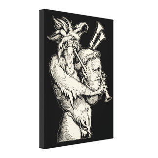 Devil with the Bagpipes Canvas Print