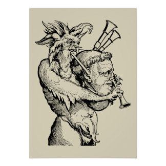 Devil with the Bagpipes Poster
