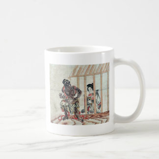 Devil &  Yoshiwara girl Ukiyo-e. Coffee Mugs
