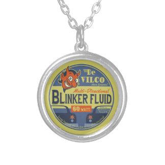 DeVilCo Blinker Fluid Silver Plated Necklace