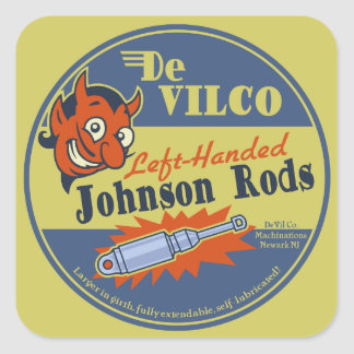 DeVILCO Left-Handed Johnsons Square Sticker